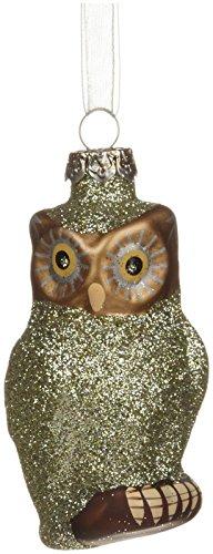 180 Degrees Owl Ornament, Green
