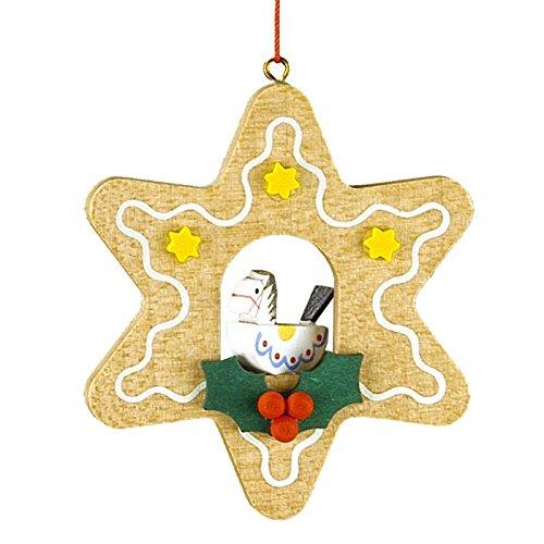 Christian Ulbricht Wooden Star-Shaped Gingerbread Christmas Ornament