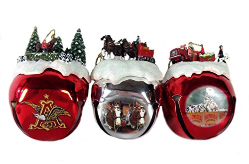 Retired Bradford Exchange Budweiser Clydesdales *Special Delivery* Sleigh Bells Set of 3 Ornaments