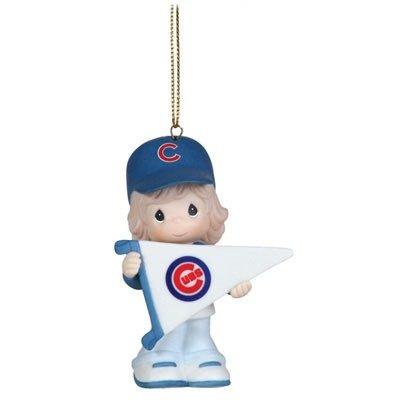 "Precious Moments ""My Team's A Home Run"" Major League Baseball Chicago Cubs Girl With Pennant"
