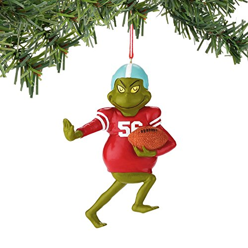 Department 56 Classics Grinch Football Grinch Ornament