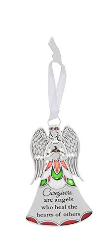Angel Ornament Caregivers are angels who heal the hearts of others