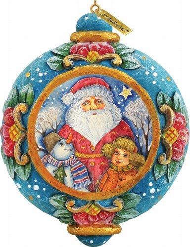 G. Debrekht The Friendship Scenic Ornament, 3.5″