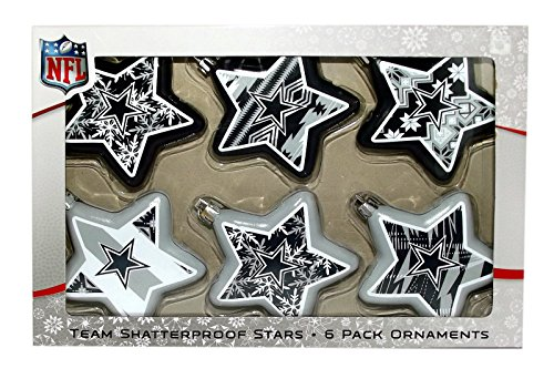 NFL Dallas Cowboys 6 Pack Star Ornaments
