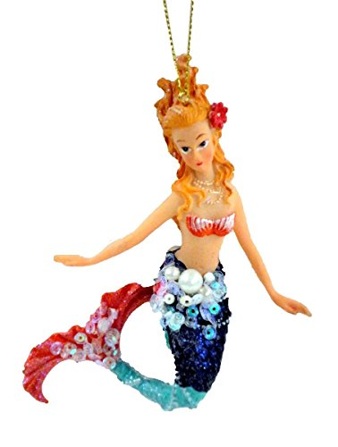 December Diamonds Embellished Mermaid Christmas Ornament