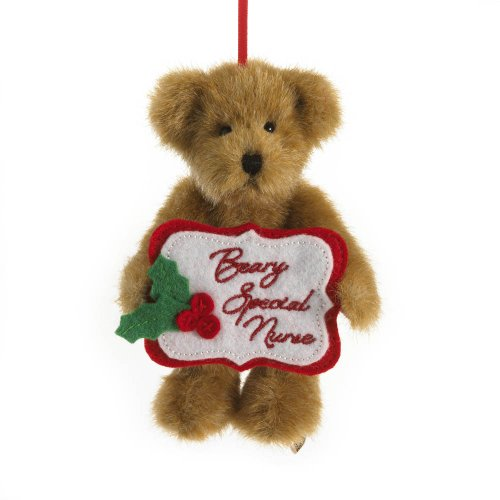 Enesco Boyds Plush 5-Inch Holiday Thinking of You Ornament, Nurse