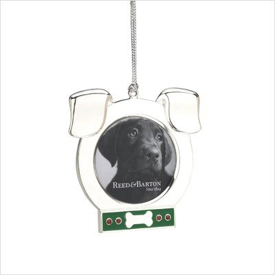 Reed & Barton Dog Picture Frame Ornament Engravable
