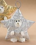 Boyds Silver Star Plush Peeker Bear Ornament #562702 Retired
