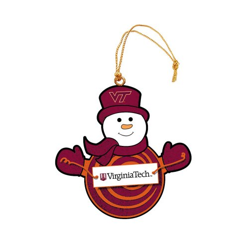 Virginia Tech Snowman with Sign Ornament