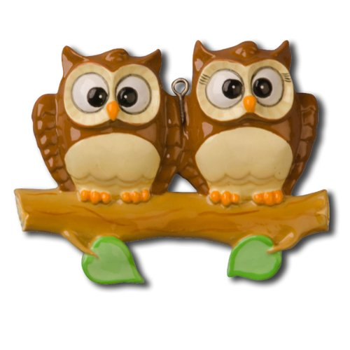 Polar X Ornaments Owl Family Of 2 On Branch Christmas Ornament