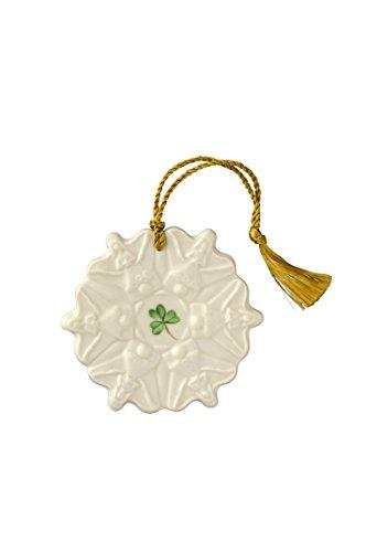 Belleek Angel Snowflake Ornament