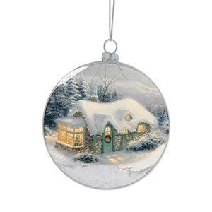 Enesco Thomas Kincaid Painter of Light Silent Night Ornament, 3.875-Inch