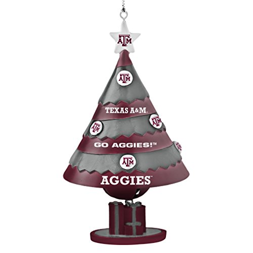 NCAA Texas A&M Aggies Tree Bell Ornament, Red, 5″