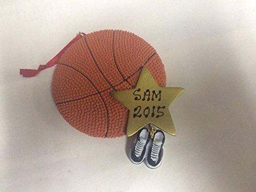 Personalized Sports Basketball Christmas Holiday Handwritten Ornament-free Personalization