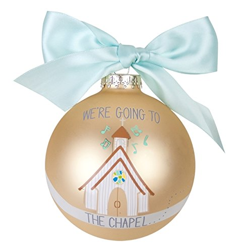 We're Going to the Chapel Glass Ornament