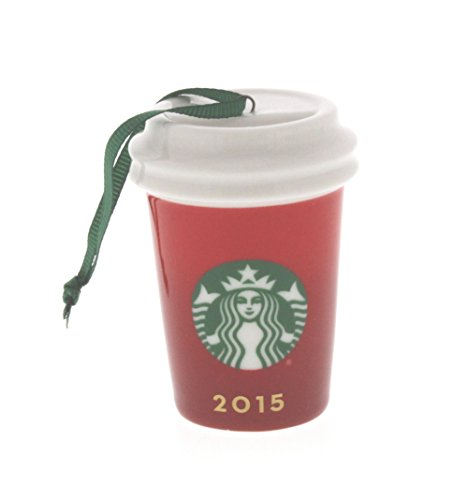 Starbucks 2015 Red Holiday Cup Ceramic Ornament 011051434