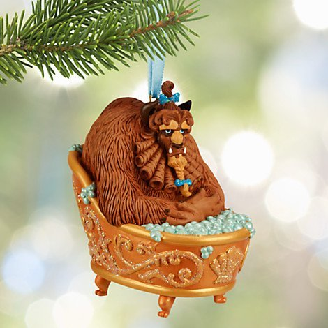 Disney Beauty and the Beast 2015 Sketchbook Ornament Beast in Tub