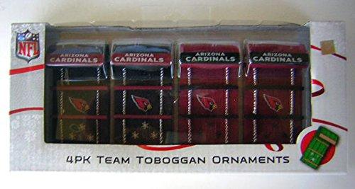 Arizona Cardinals 4 Pack Team Toboggan Ornaments