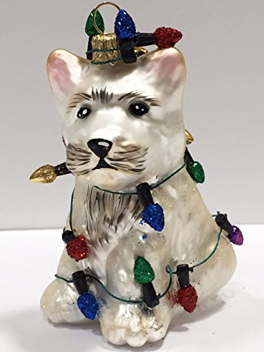 Ornaments to Remember: WEST HIGHLAND TERRIER PUPPY (Christmas Lights) Christmas Ornament