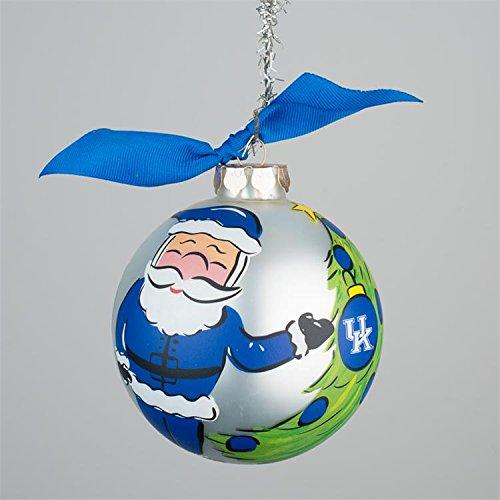 Glory Haus Kentucky Santa Glass Ornament, 4-Inch