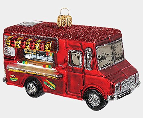 Food Truck Polish Mouth Blown Glass Christmas Ornament