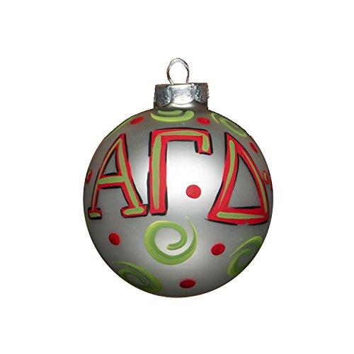 Glory Haus Alpha Gamma Delta Glass Ornament, 4-Inch