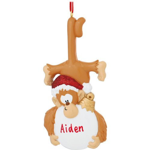 Personalized Monkey Business Holiday Gift Expertly Handwritten Ornament