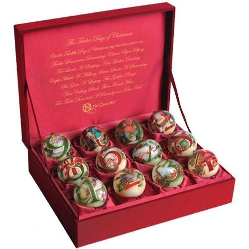 Ne' Qwa 12 Days of Christmas Petite Ornament Boxed Set