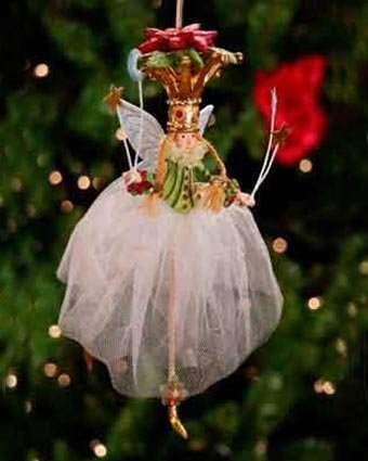 Patience Brewster Poinsettia Princess Ornament – Krinkles Christmas Décor New 08-30627