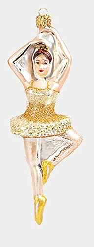 Spinning Ballerina Dancer Polish Mouth Blown Glass Christmas Ornament