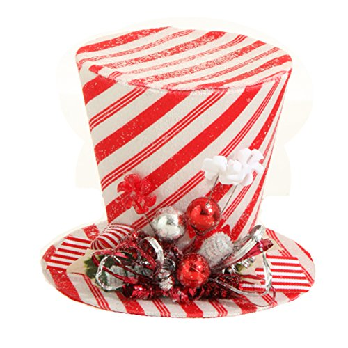 RAZ Imports – Peppermint Toy – 7″ Peppermint Top Hat Decorative Piece or Ornament