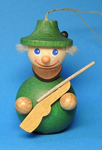 Forester Hunter with Gun German Wood Christmas Ornament