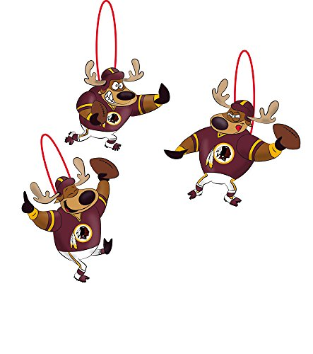 Reindeer Players, Orn, Washington Redskins, 3 Assort