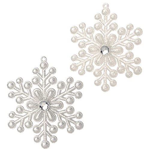 RAZ Imports – 5″ Snowflake Ornaments – Set of 2