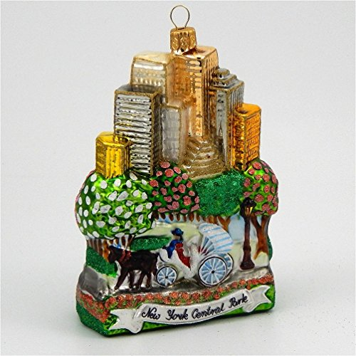 New York City Central Park Polish Mouth Blown Glass Christmas Ornament