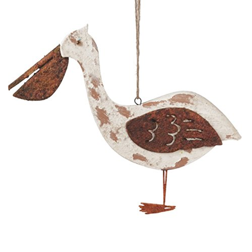Coastal Pelican Tin Holiday Christmas Ornament Midwest-CBK