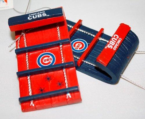 Chicago Cubs MLB Toboggan 4 Pack Ornament Set