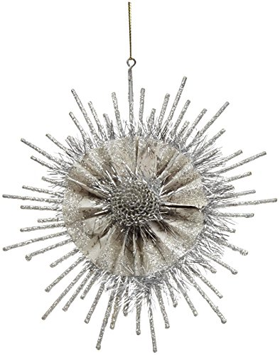 180 Degrees Snowflake Ornament, Silver