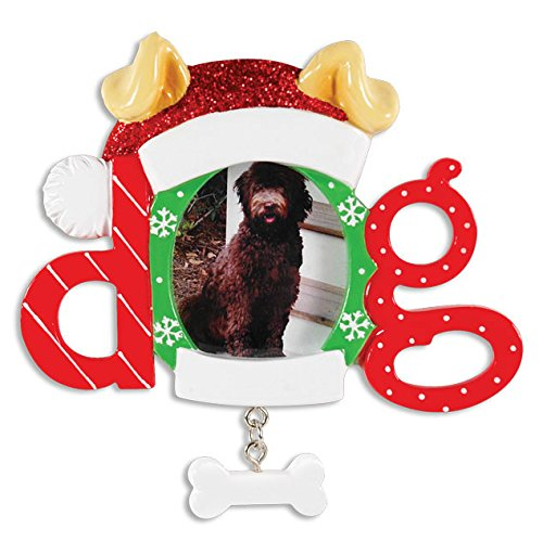 Christmas Dog Frame Personalized Christmas Tree Ornament
