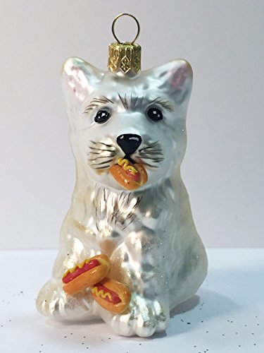 Ornaments to Remember: WEST HIGHLAND TERRIER PUPPY (Hot Dogs) Christmas Ornament