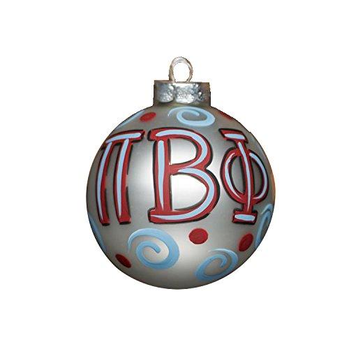Glory Haus Pi Beta Phi Glass Ornament, 4-Inch