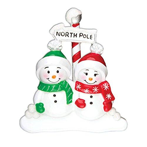 North Pole Family Ornament Couple Or967-2