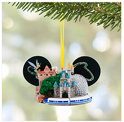 Walt Disney World Four Parks Mickey Mouse Ears Hat Ornament 2015 Edition