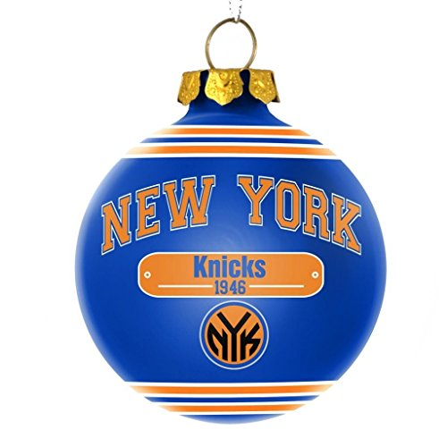 New York Knicks NBA 2014 Glass Ball Christmas Ornament NY Forever Collectibles
