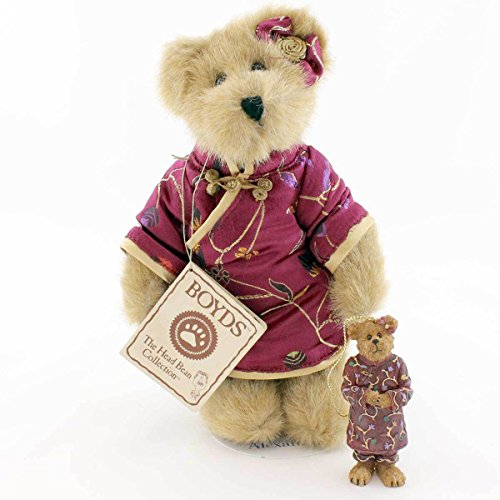 Boyds Bears Plush BAILEY IN CHINA W/ ORNAMENT 99116V Qvc Exclusive Resin