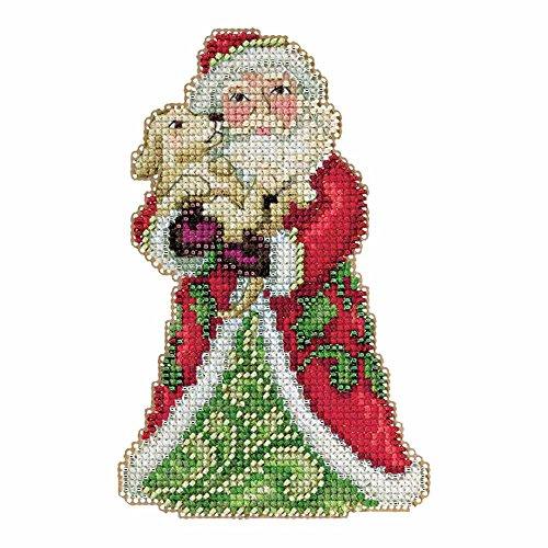 Best Friend Santa Beaded Counted Cross Stitch Kit Mill Hill 2015 Jim Shore Winter Series JS205106