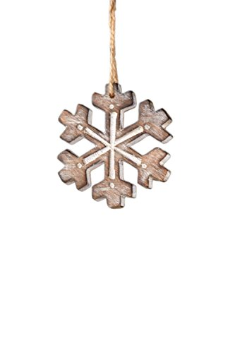 Sage & Co. XAO14545WH Carved Snowflake Ornament