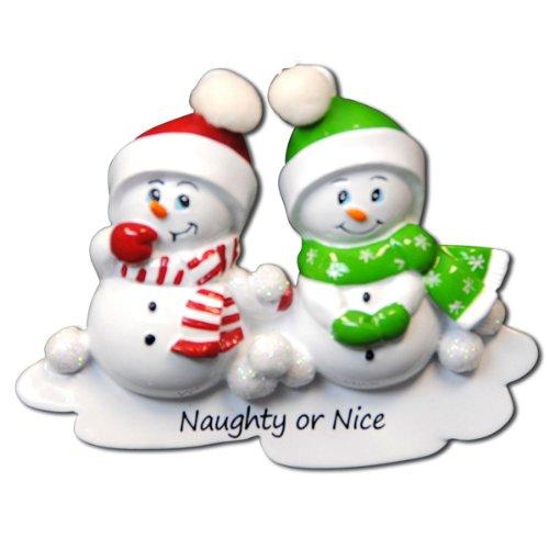 Naughty or Nice Snowman Ornament
