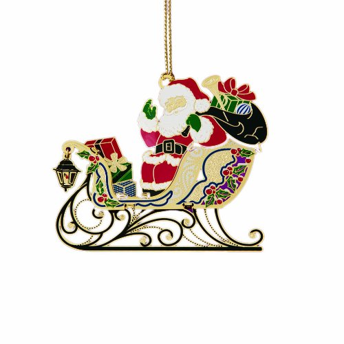Santa On Sleigh With Gifts – Ornament