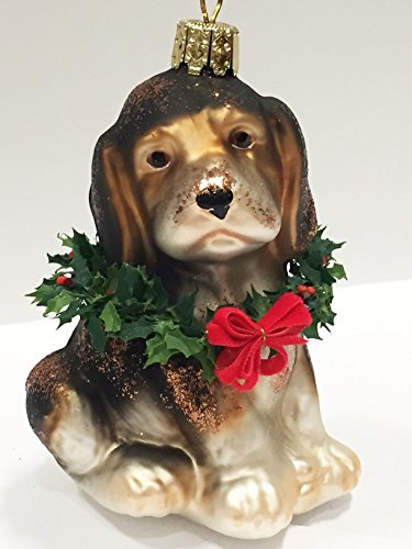 Ornaments to Remember: BEAGLE PUPPY (Xmas Wreath) Christmas Ornament
